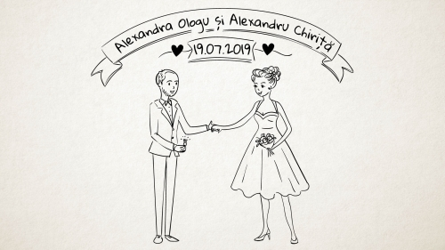 Ali & Alex Wedding Invitation |Doodle Video