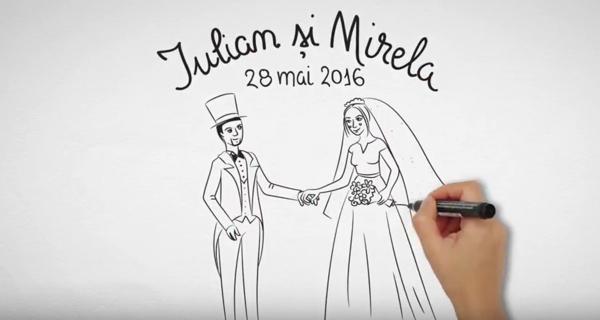 Iulian și Mirela | Invitație nuntă | Whiteboard animation