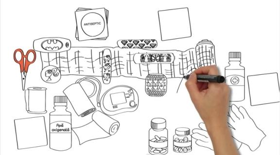 Trusa de prim ajutor | Lecția de prim ajutor | WHITEBOARD ANIMATION
