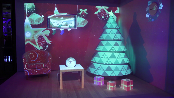 Christmas Room |Mircrosoft | 3D VIDEO MAPPING ROOM